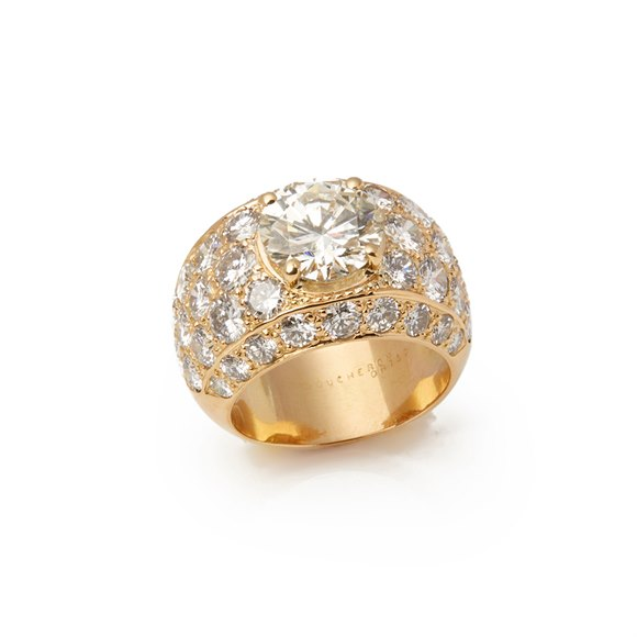 Boucheron 18k Yellow Gold Diamond Boucheron Set Cocktail Ring
