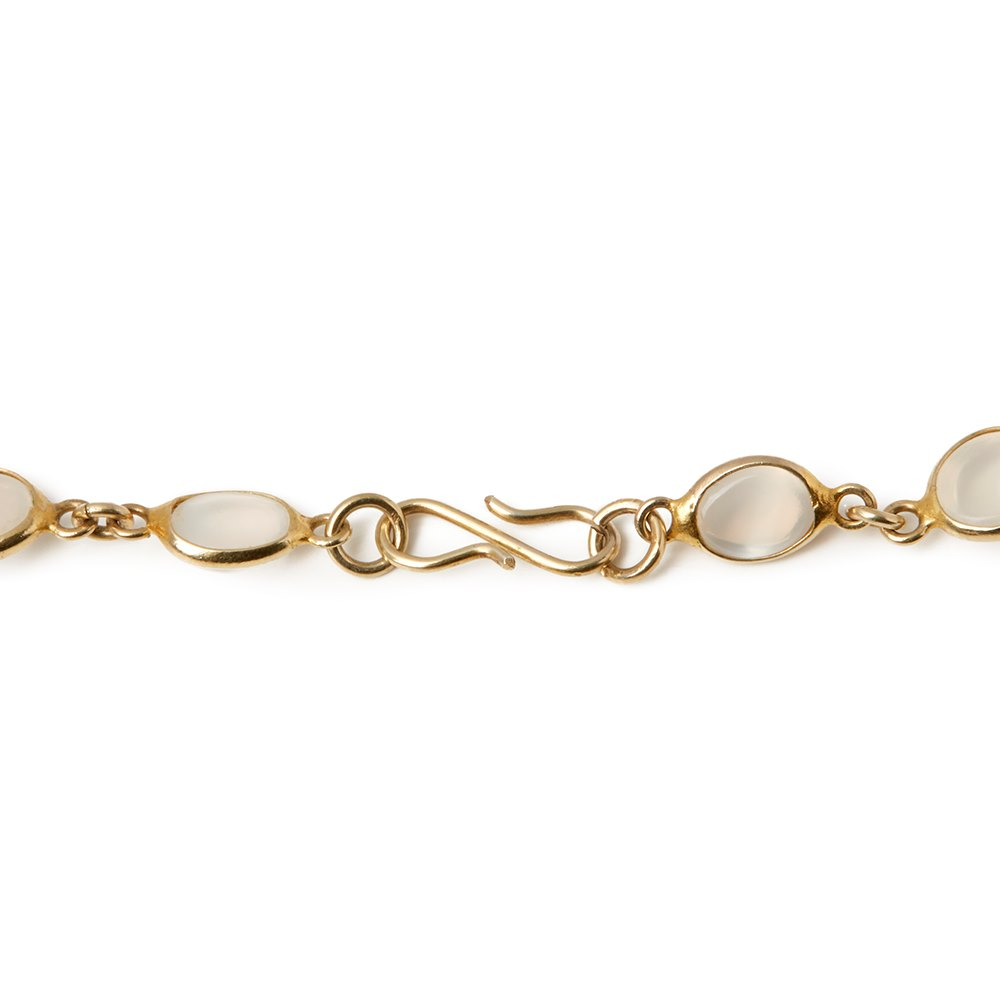 Cellini 9k Yellow Gold Moonstone Necklace