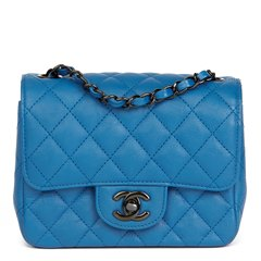 Chanel Blue Quilted Calfskin Leather Mini Flap Bag