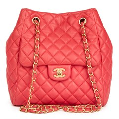 Chanel Rose Quilted Lambskin Classic Bucket Bag