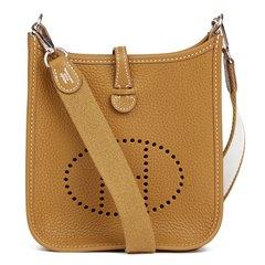 Hermès Kraft & White Clemence Leather Evelyne III TPM Amazone