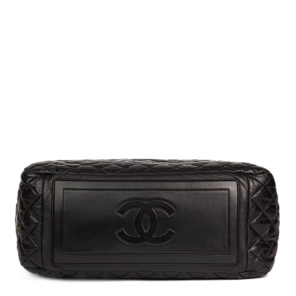 975a842b4476 Chanel Black Quilted Lambskin Coco Cocoon Bowling Bag
