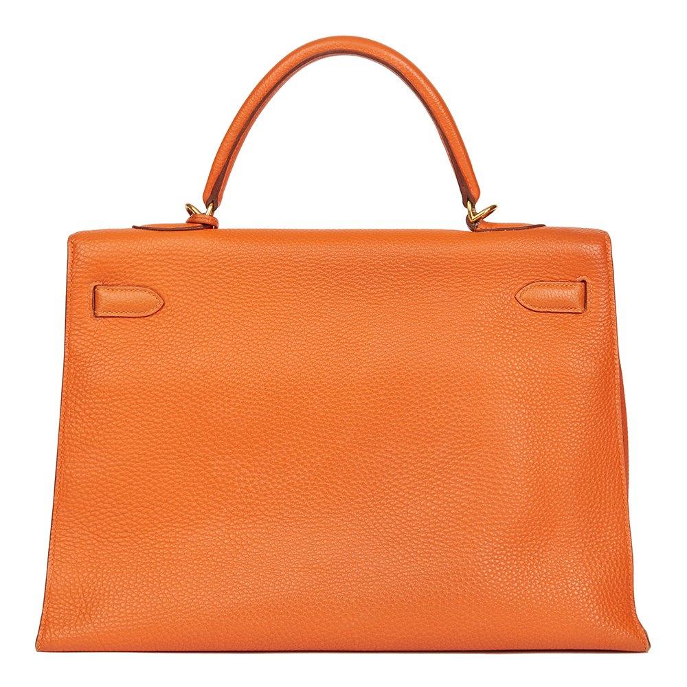 6f25a07582 Hermès Orange H Togo Leather Kelly 35cm Sellier