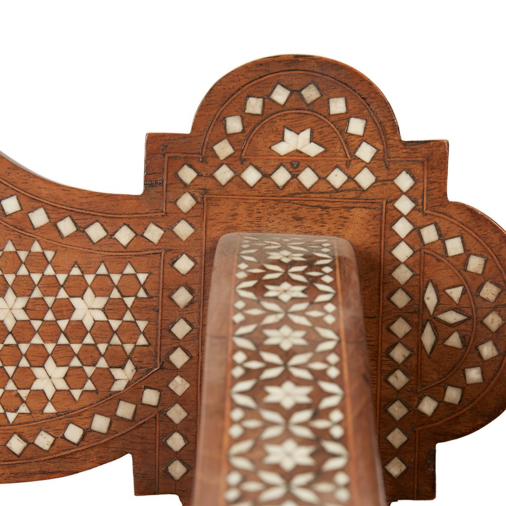 MILANESE MOORISH CARVED & INLAID CHAIR 19TH C Likely to be late 19th Century