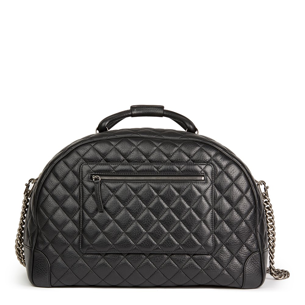 6c24e03c893db5 Chanel Large Round Trip Bowling Bag 2016 HB2147 | Second Hand Handbags