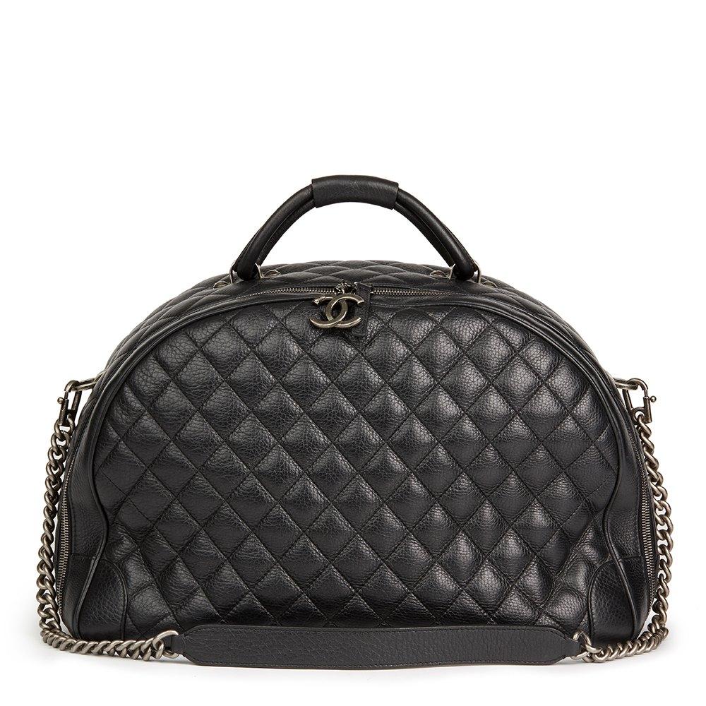 3effb204abc0 Chanel Large Round Trip Bowling Bag 2016 HB2147 | Second Hand Handbags