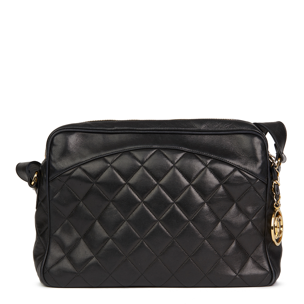 5d3ac78d9e155 Details about CHANEL BLACK QUILTED LAMBSKIN VINTAGE TIMELESS CHARM CAMERA  BAG HB2159