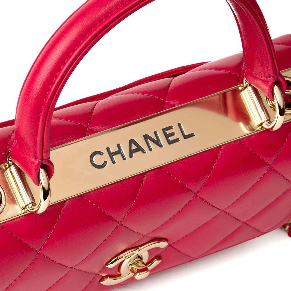 20dd9c623030 Chanel Dark Pink Quilted Lambskin Small Trendy CC