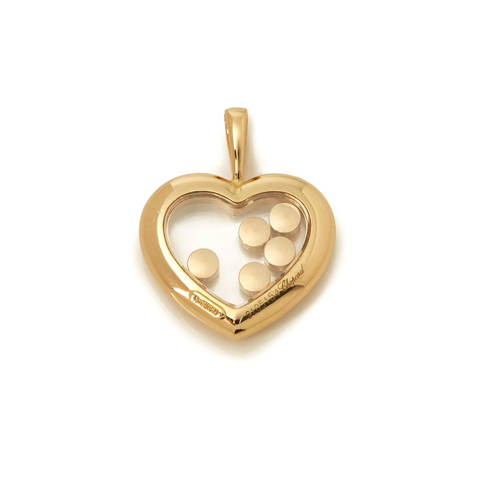 Chopard 18k Yellow Gold Happy Diamonds Heart Pendant