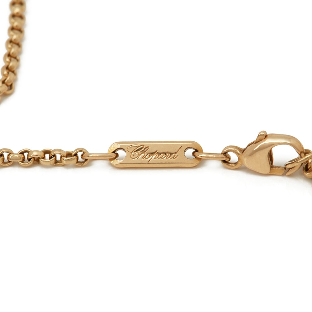Chopard 18k Yellow Gold Happy Diamonds Spotted Diamond Heart Pendant Necklace