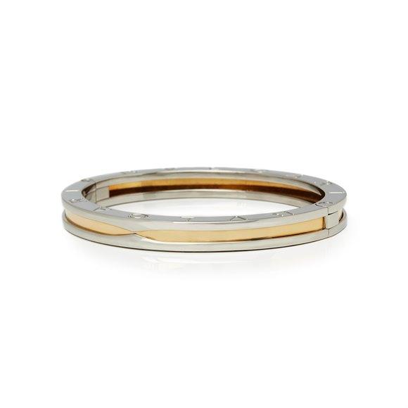 Bulgari Stainless Steel & 18k Yellow Gold B.Zero 1 Bracelet