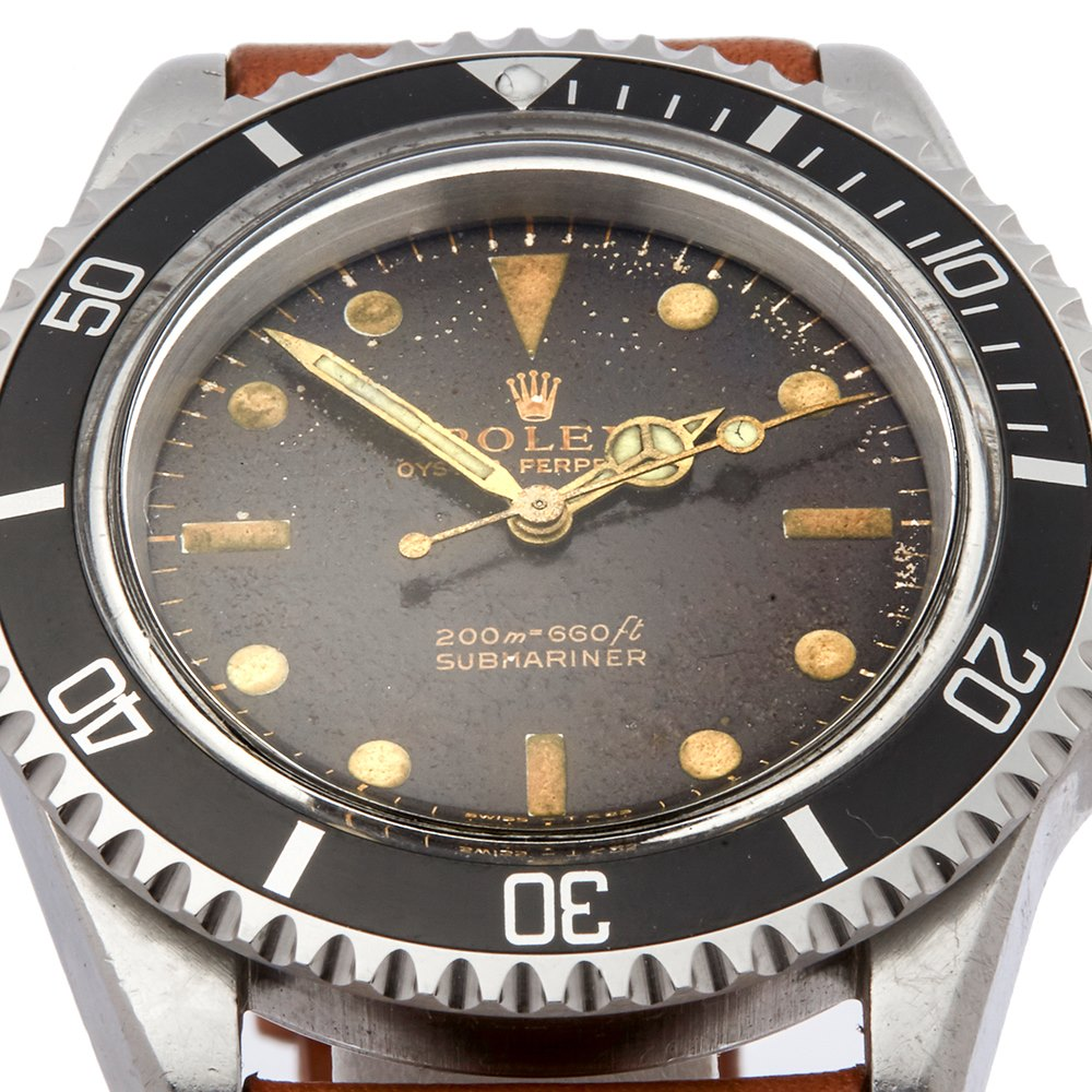 Rolex Submariner Non Date Tropical Dial Stainless Steel 5513