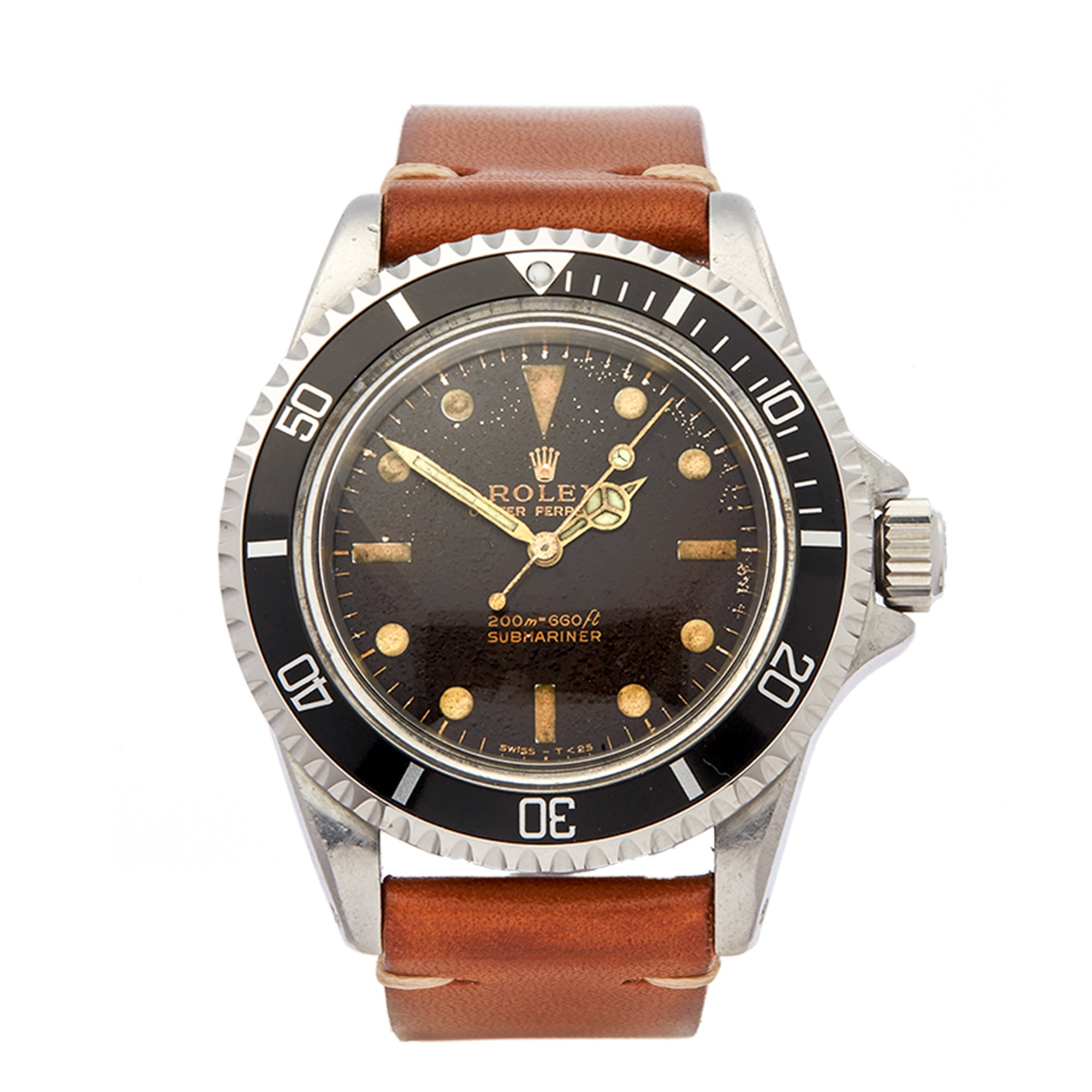 Rolex Submariner No Date Tropical Dial Stainless Steel 5513