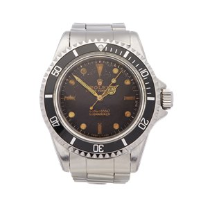 Rolex Submariner No Date Tropical Dial Gilt Gloss Meters First Stainless Steel - 5513