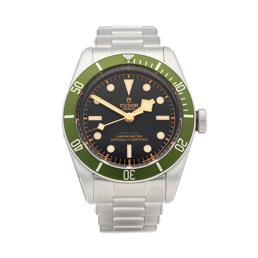 2362a9f7068 Details about TUDOR HERITAGE BLACK BAY HARRODS STAINLESS STEEL WATCH 79230G  W5388