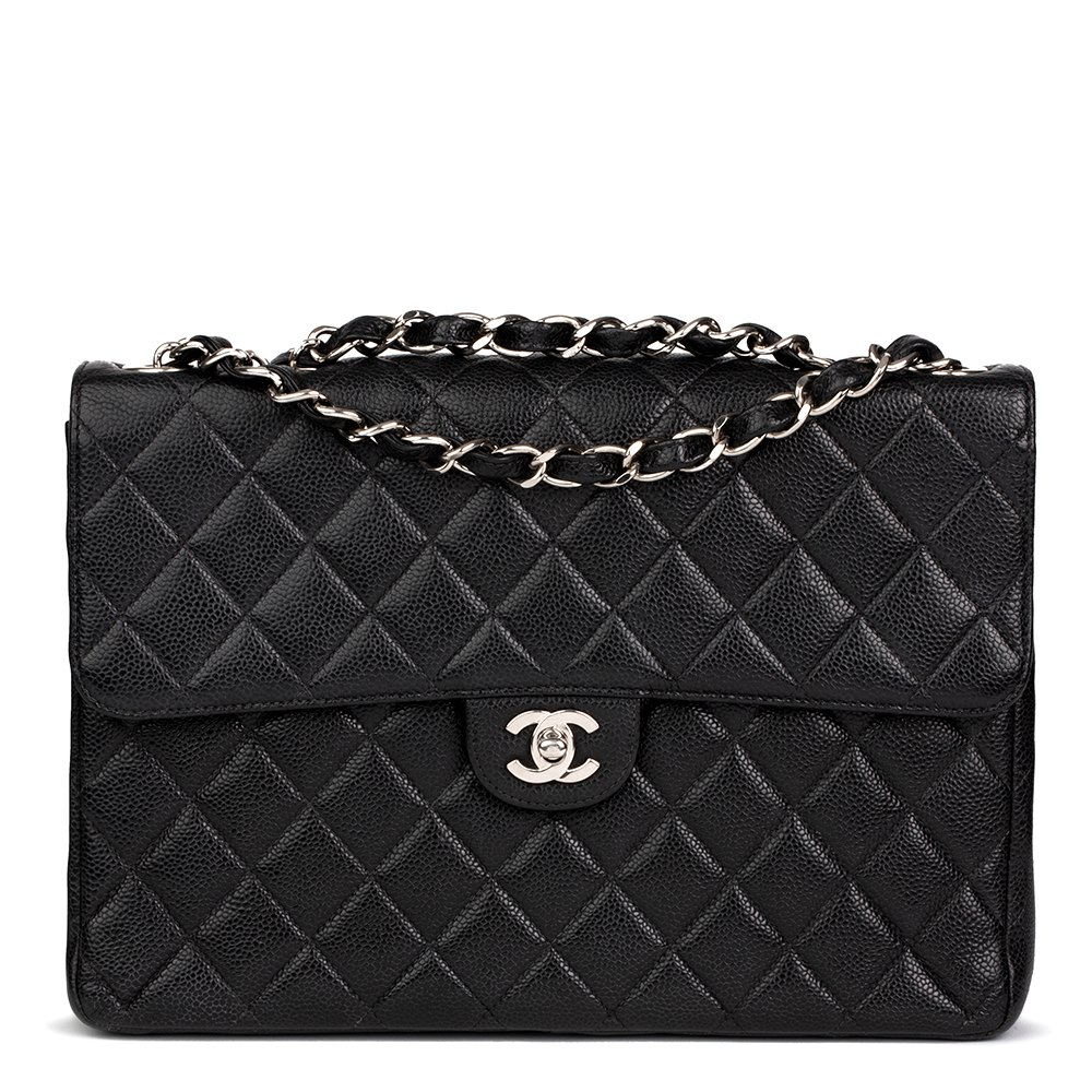 58f0e9fea38edc Chanel Jumbo Classic Single Flap Bag 2001 HB2169 | Second Hand Handbags