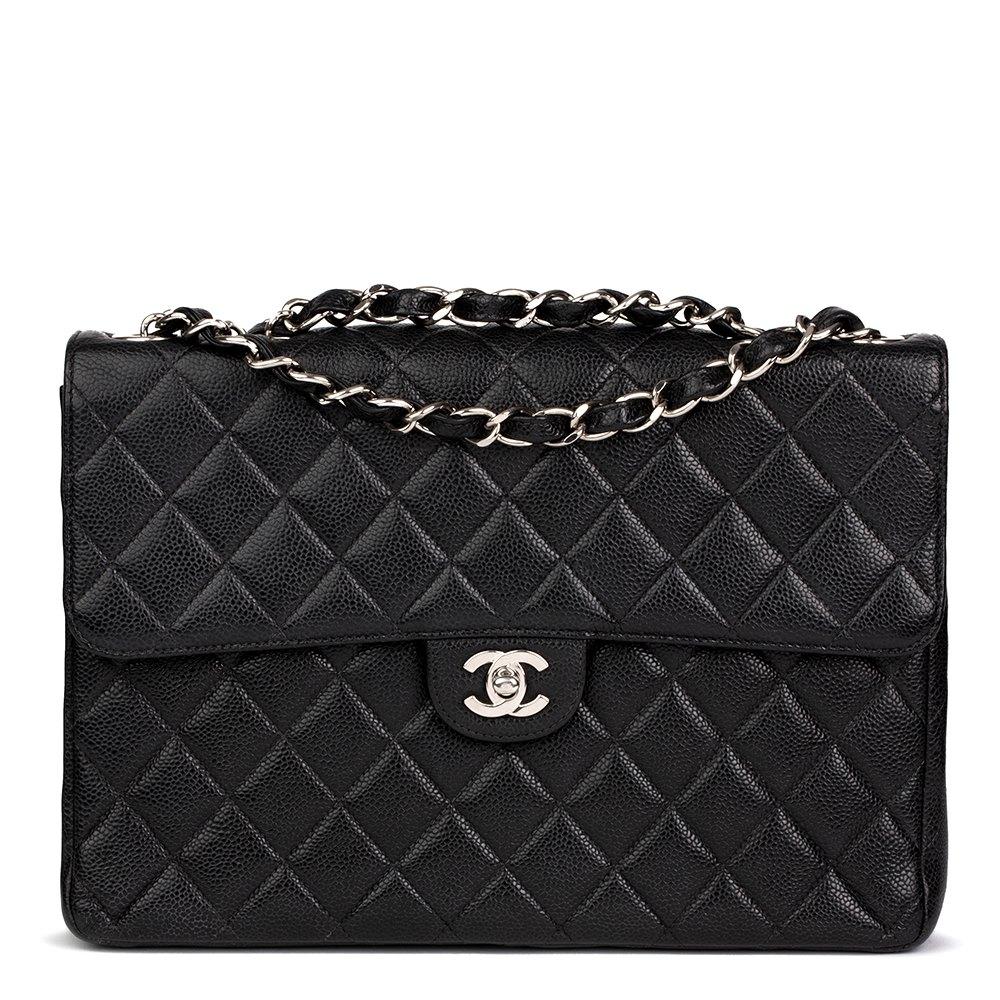 f4d45fa1ba6c Chanel Jumbo Classic Single Flap Bag 2001 HB2169 | Second Hand Handbags