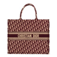 Christian Dior Red Oblique Monogram Canvas Book Tote