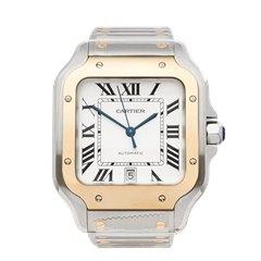 Cartier Santos De Cartier Stainless Steel & 18K Yellow Gold - W2SA0006