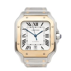 Cartier Santos Galbee Stainless Steel & 18K Yellow Gold - W2SA0006