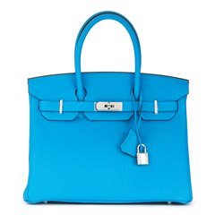 Hermès Blue Zanzibar & Malachite Togo Leather Verso Birkin 30cm