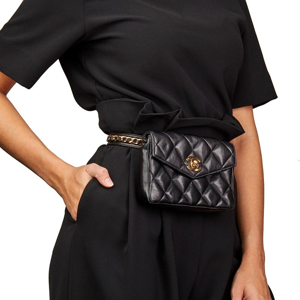 ca72d194d918 Chanel Classic Belt Bag 1990's HB2180   Second Hand Handbags   Xupes