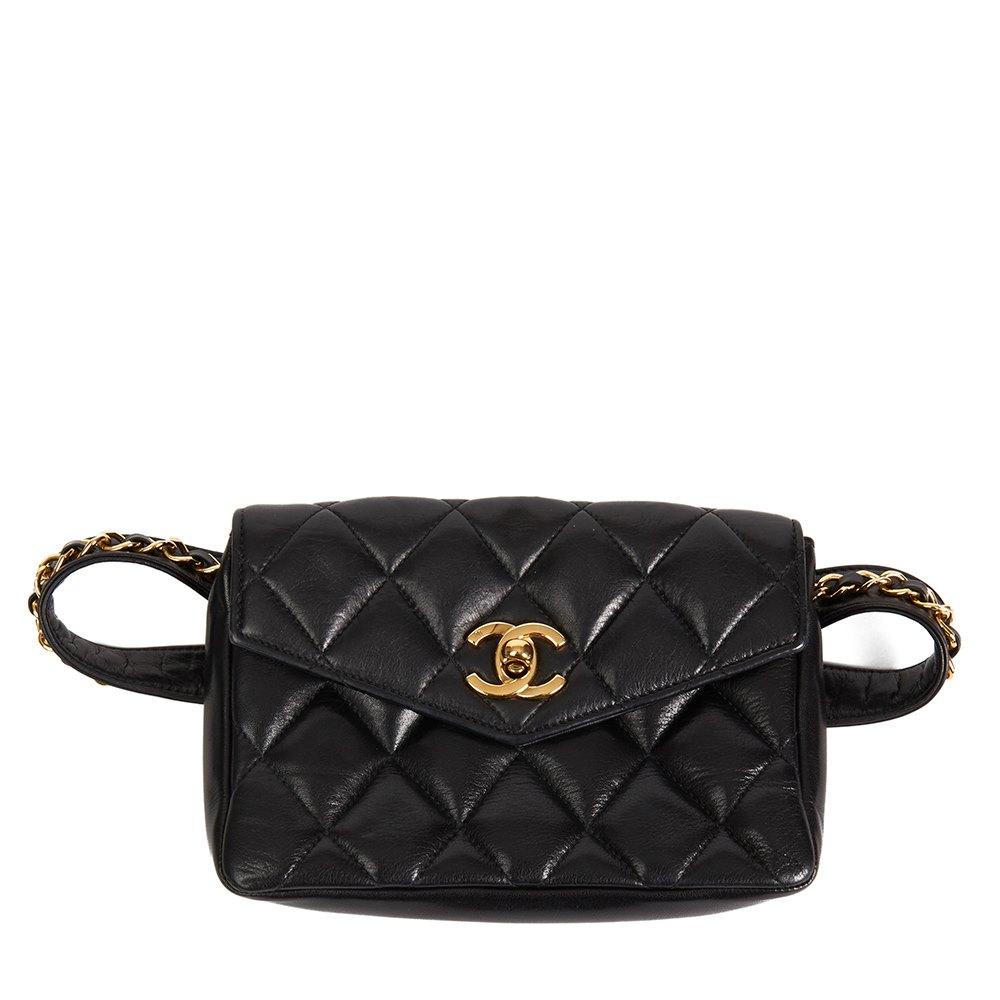 b972a0140a8 Chanel Classic Belt Bag 1990's HB2180   Second Hand Handbags   Xupes