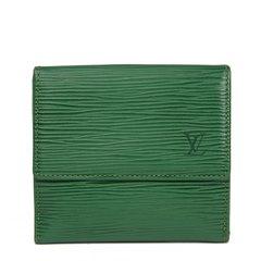 Louis Vuitton Borneo Green Epi Leather Vintage Elise Wallet