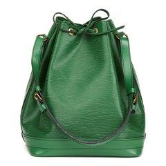 Louis Vuitton Borneo Green Black Stitch Epi Leather Vintage Noé