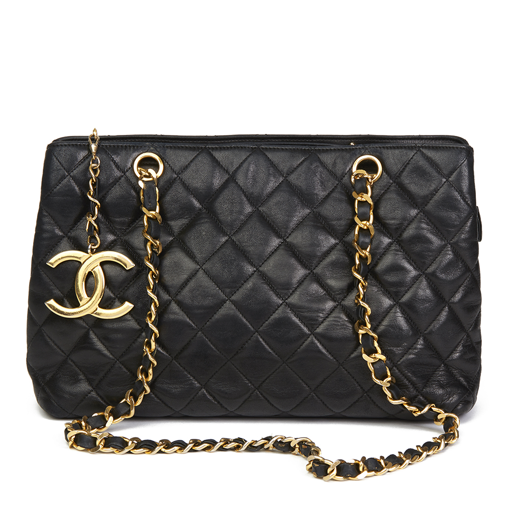 b83529a4f35b Chanel Black Quilted Lambskin Xl Timeless Charm Shoulder Bag Hb2201