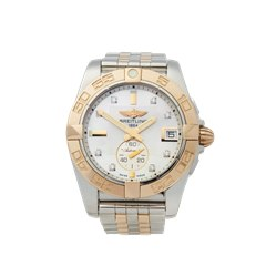 Breitling Galactic Stainless Steel & 18K Rose Gold - C3733012/A725