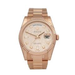 Rolex Day-Date 18K Rose Gold - 118235