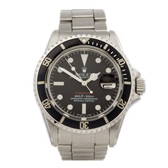 Rolex Submariner Single Red Stainless Steel - 1680