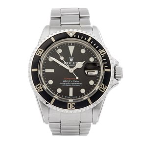Rolex Submariner Date Single Red Stainless Steel - 1680