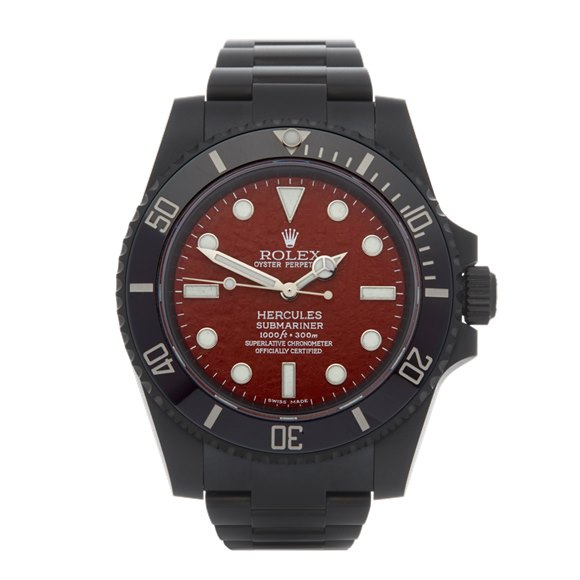 Rolex Submariner No Date Hercules Custom Dlc Coated Stainless Steel - 114060