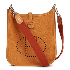 Hermès Gold & Cuivre Clemence Leather Evelyne III TPM Amazone