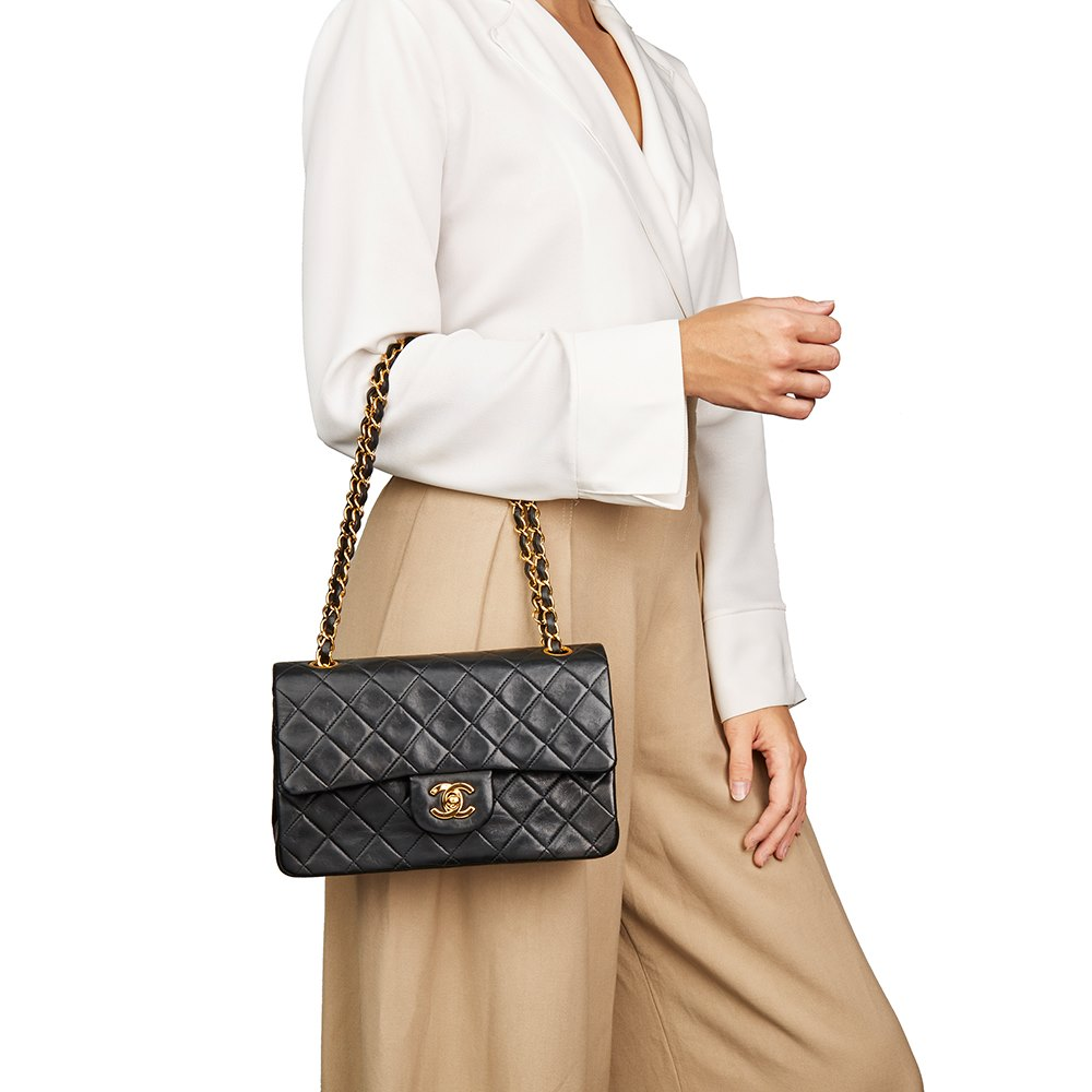 9767cb86 Chanel Small Classic Double Flap Bag 1991 HB2240 | Second Hand Handbags