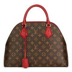 Louis Vuitton Rubis Calfskin Leather & Brown Monogram Coated Canvas Alma BNB