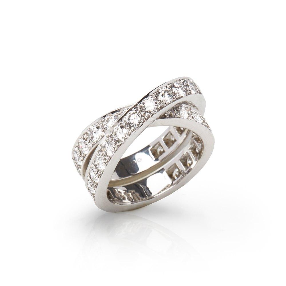 Cartier 18k White Gold Diamond Paris Nouvelle Vague Ring