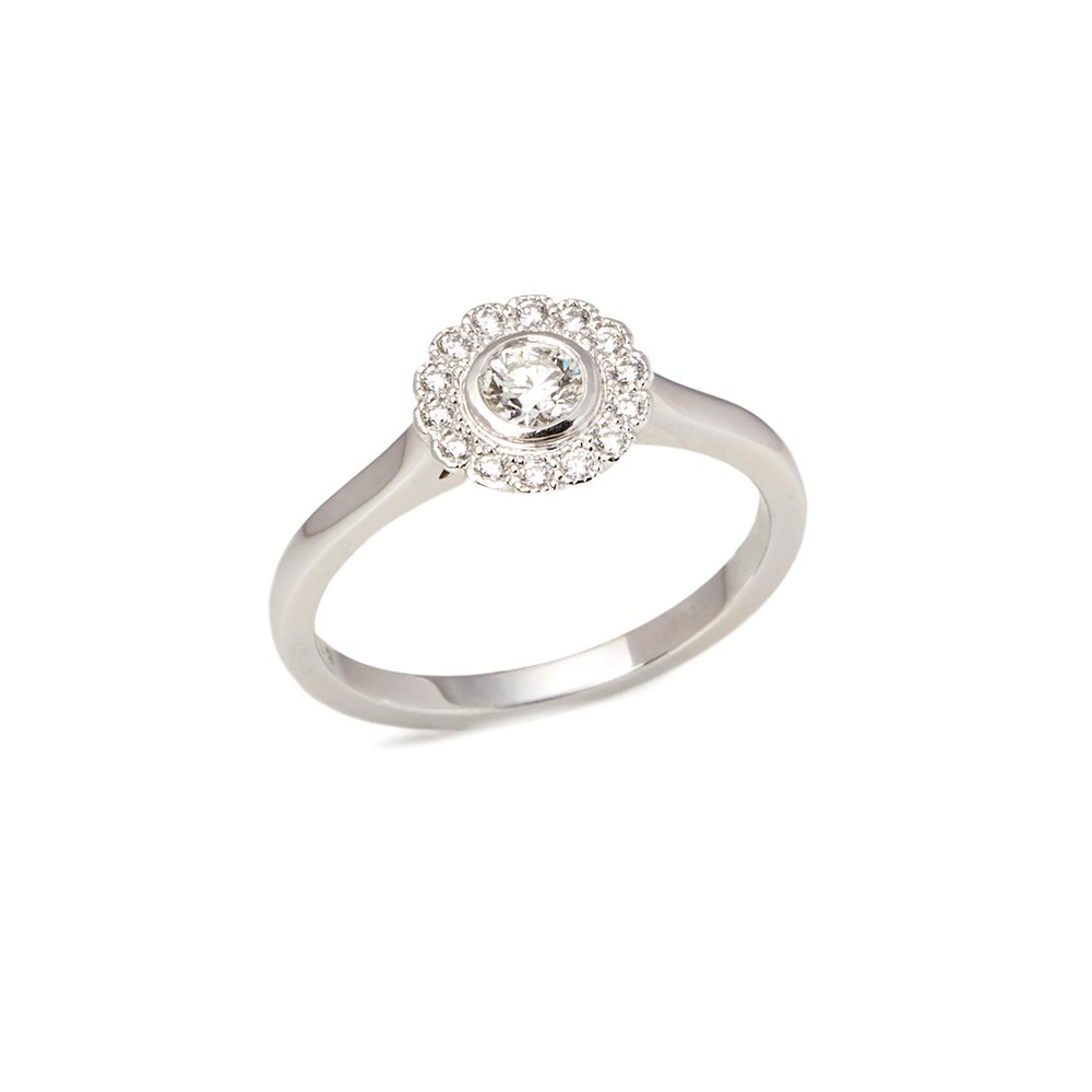 Tiffany & Co. Platinum Diamond Flower Enchant Ring