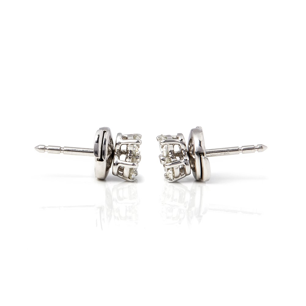 Tiffany & Co. Platinum Diamond Aria Stud Earrings