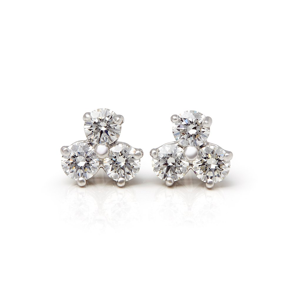 6600a79011e Tiffany   Co. Platinum Diamond Aria Stud Earrings COM1854