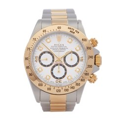 Rolex Daytona Diamond Inverted 6 Zenith Chronograph 18k Stainless Steel & Yellow Gold - 16523