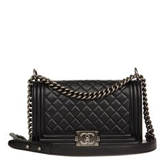 Chanel Black Quilted Lambskin Medium Le Boy