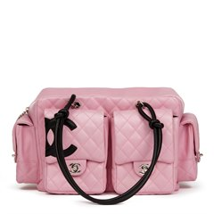 Chanel Pink Quilted Calfskin Leather Reporter Cambon