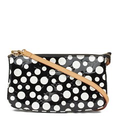 Louis Vuitton Black Vernis Leather Dots Infinity Yayoi Kusama Pochette Accessories