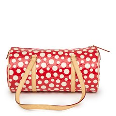 Louis Vuitton Red Vernis Leather Dots Infinity Yayoi Kusama Papillon 30