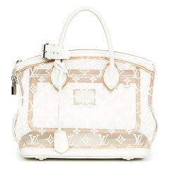 Louis Vuitton White Monogram Transparence Nylon & Calfskin Leather Lockit