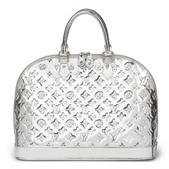Louis Vuitton Silver Monogram Miroir Vinyl Alma GM