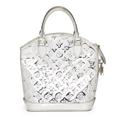 Louis Vuitton Silver Monogram Miroir Vinyl Lockit
